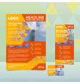 Orange annual report with the pattern of triangles vector image