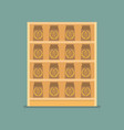 paper bag products on shelves vector image