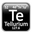Periodic table element tellurium icon vector image vector image
