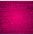 pink background with valentine hearts and text vector image vector image