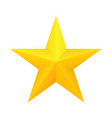 realistic golden star icon vector image vector image