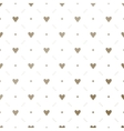 Seamless gold pattern with hearts on a vector image vector image