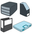 set of document storage vector image vector image