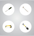 set of instruments realistic symbols with vector image