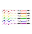 set of multicolor sketch doodles marking pen vector image