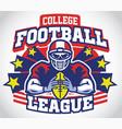skull mascot football player vector image