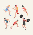 sports characters isometric olympic games players vector image vector image