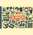 summer design elements collection vector image