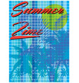 summer time - hand drawn calligraphy summer vector image vector image