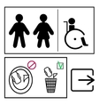 toilett signs set vector image vector image