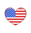 united states of america flag in the shape vector image