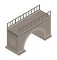 urban bridge icon isometric style vector image vector image