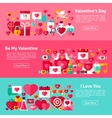 Valentine Day Web Horizontal Banners vector image vector image