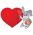 valentine theme image 4 vector image