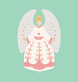 vintage christmas angel vector image