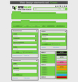 web design elements set green vector image vector image