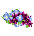 wet lilac and forget-me-not flower vector image
