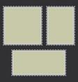 blank postage stamps set vector image
