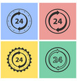 24 hour service icon set vector image