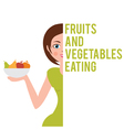 a woman who chooses a healthy diet vector image