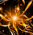 Abstract background light lines futuristic wave vector image vector image