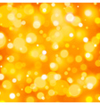 Abstract orange background with bokeh lights vector image