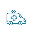 ambulance car icon your first-aid insurance case vector image