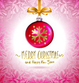 Background with Christmas balls Eps 10 red vector image
