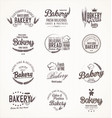 bakery retro labels vector image vector image