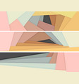 banners colored paper lie on each other vector image vector image