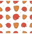 baseball seamless pattern pitcher helmet vector image vector image
