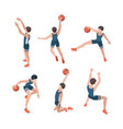 basketball players sport athletes playing in vector image vector image