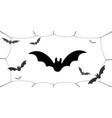bat icons set wings black web silhouette vector image vector image