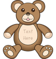 Bear doll vector image