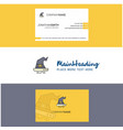 beautiful witch hat logo and business card vector image