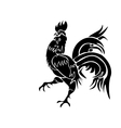 Black rooster on white background vector image
