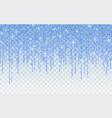 blue glitter sparkle on a transparent background vector image vector image