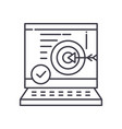 business accuracy icon linear isolated