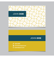 business card pattern yellow 05 vector image vector image