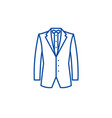 business jacket line icon concept business jacket vector image vector image