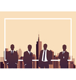 Business meeting with copyspace concept vector image vector image