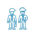 business people linear icon concept business vector image