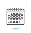 calendar or personal organizer outline icon vector image