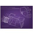 camera on purple vector image vector image