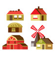 cartoon set country houses vector image