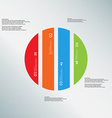 Circle template consists of four color parts on vector image vector image