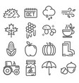 collection of autumn icons isolated set vector image