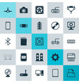 computer icons set collection of music desktop vector image