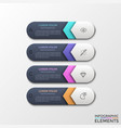 concept of 4 steps to success vector image vector image