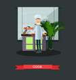 cook concept in flat style vector image
